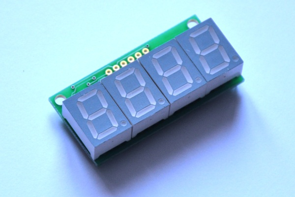 Picture of 7 segment LED display (green)