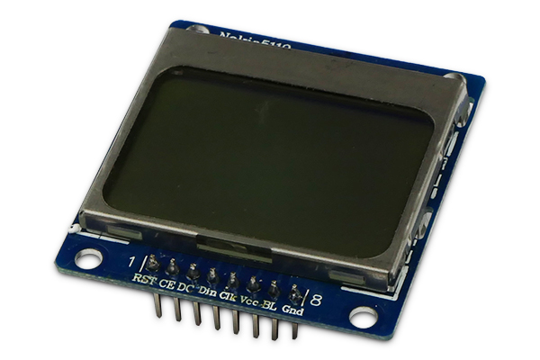 84x48 Nokia 5110 LCD display
