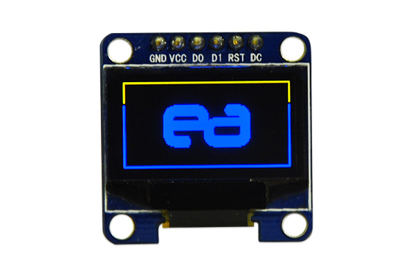 OLED 128x64 pixel display (yellow/blue)