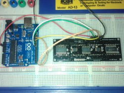 DSP-0801 alphanumeric LED display with Arduino UNO